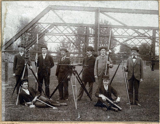 A civil engineering class from 1893