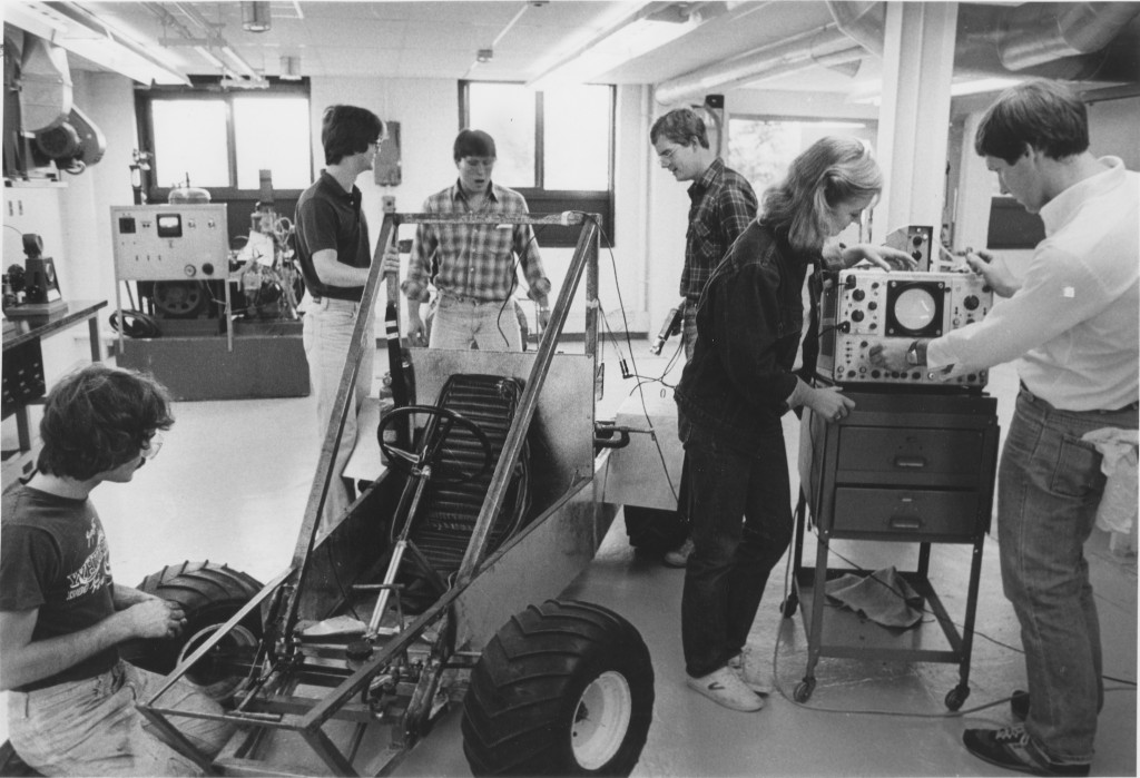 A mechanical engineering lab from the 1980's