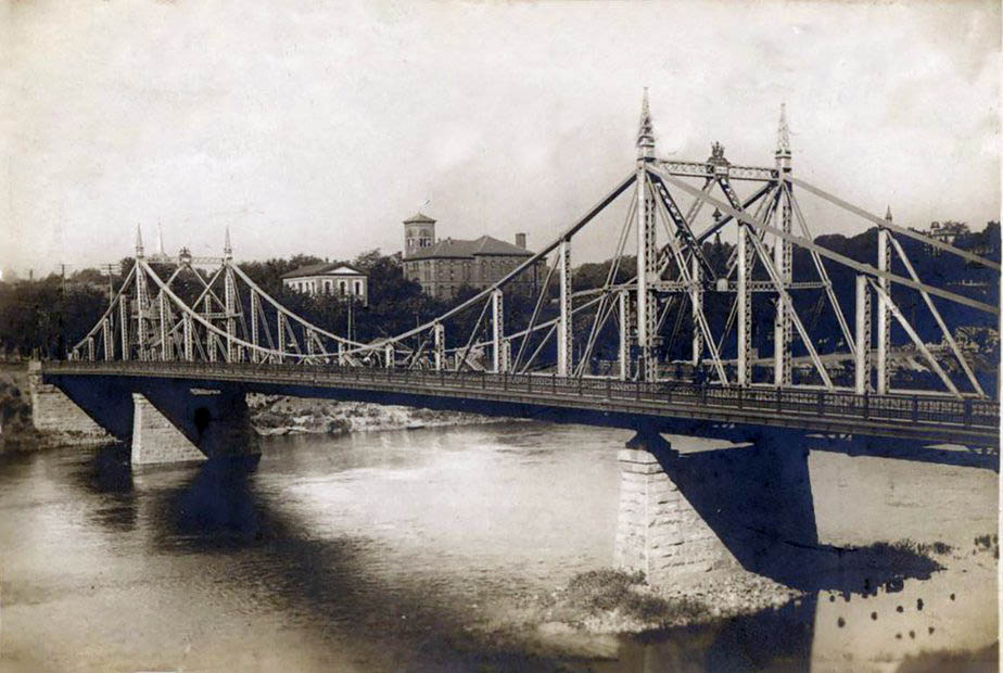 "Easton's ""free bridge,"" pictured here in 1895, was designed by James Madison Porter III."