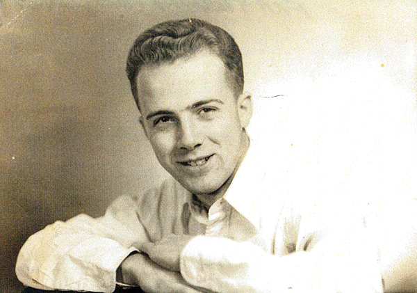 Don Mildrum '53 in a Phi Kappa Tau fraternity photo
